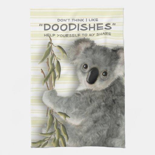 Koala linda divertida toalla de mano