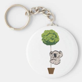 Koala linda en el árbol llavero personalizado