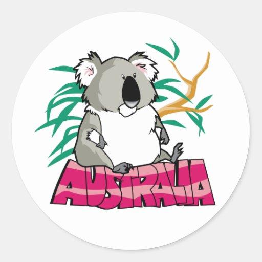 Koala linda etiquetas