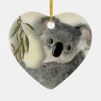 Koala linda personalizada adorno de navidad