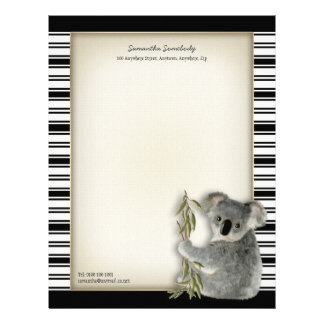 Koala linda plantillas de membrete
