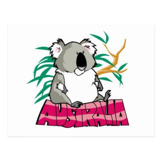 Koala linda postal