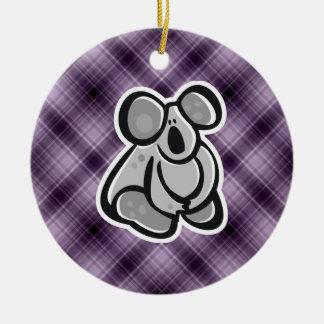 Koala linda Púrpura Adorno De Navidad
