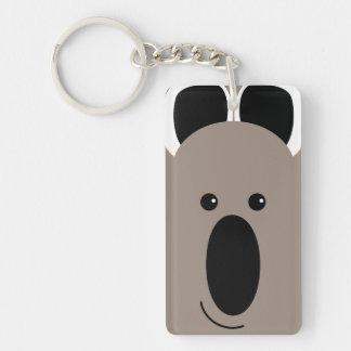 ¡Koala! Llavero Rectangular Acrílico A Doble Cara