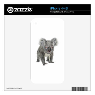 Koala Looking Forward Decal For iPhone 4S