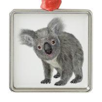 Koala Looking Quizzical Metal Ornament