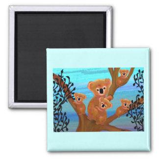 Koala Love 2 Inch Square Magnet