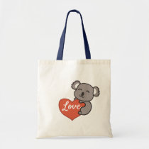 Koala love tote bag
