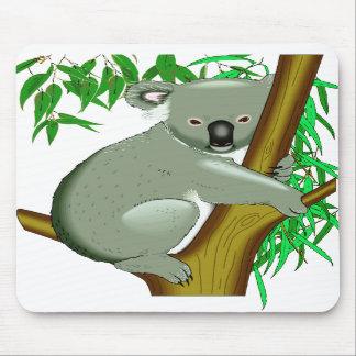 Koala - marsupial de vida del árbol australiano alfombrillas de ratón