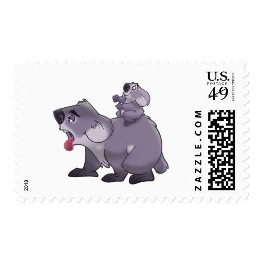 Koala Mom Postage Stamps