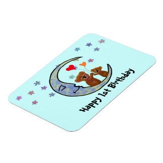 Koala Moon Birthday Magnet Premium Magnet