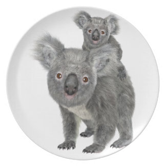 Koala Mother and Child Plate