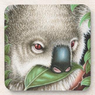 Koala Munching a Leaf Cork Coaster