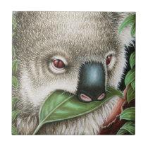 Koala Munching a Leaf Tile