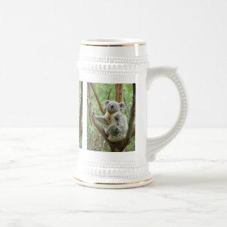 Koala on a tree 18 oz beer stein