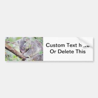 koala painted swirls  version sm c.jpg bumper sticker