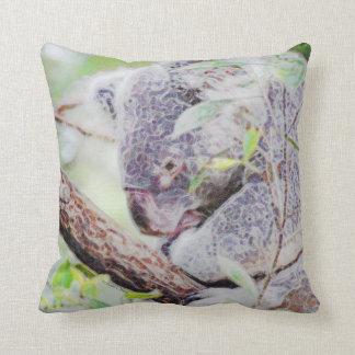 koala painted swirls  version sm c.jpg throw pillow