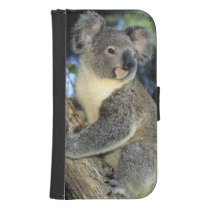 Koala, Phascolarctos cinereus), Australia, Galaxy S4 Wallet Case