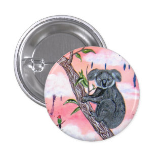 Koala Pin Redondo 2,5 Cm