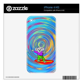 Koala que practica surf skins para iPhone 4S