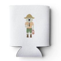 koala ranger with hat Zgvje Can Cooler