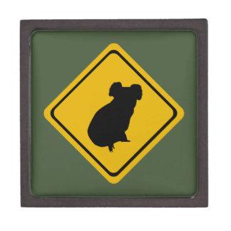 koala road sign gift box