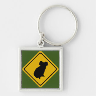 koala road sign keychain