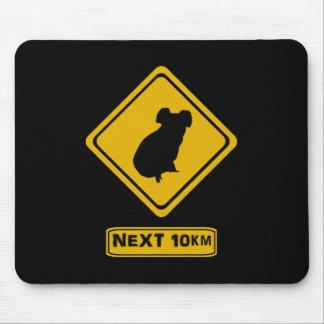 koala road sign mousepad