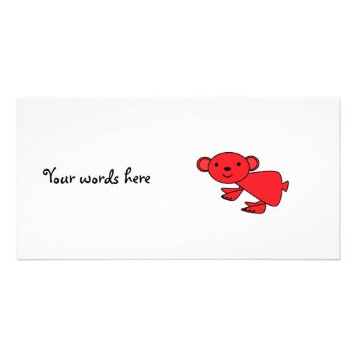 Koala roja linda tarjetas fotográficas
