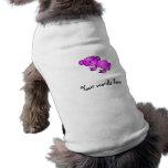 Koala rosada brillante linda playera sin mangas para perro