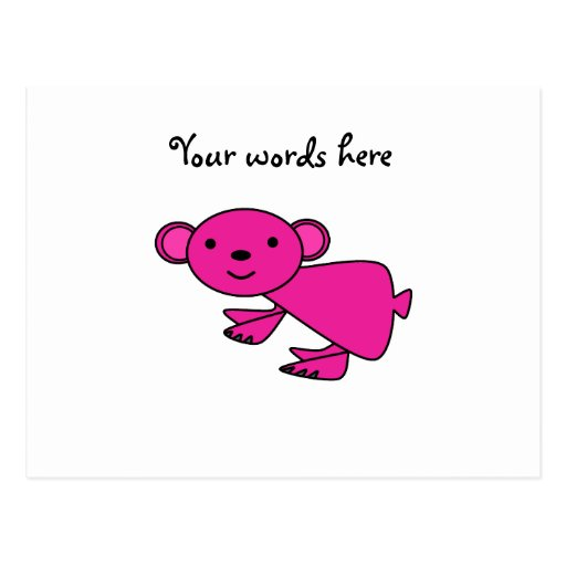 Koala rosada tarjetas postales