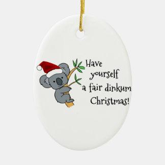 Koala Santa - navidad australiano Ornaments Para Arbol De Navidad