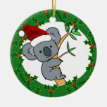 Koala Santa - navidad australiano Ornamento De Reyes Magos
