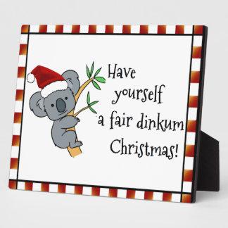 Koala Santa - navidad australiano Placas Con Fotos