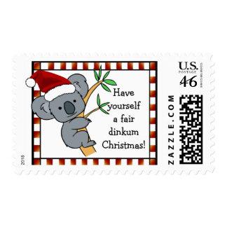 Koala Santa - navidad justo de Dinkum