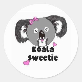 Koala Sweetie Classic Round Sticker