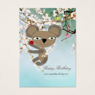 Koala Tree blooming baby birds Business Card
