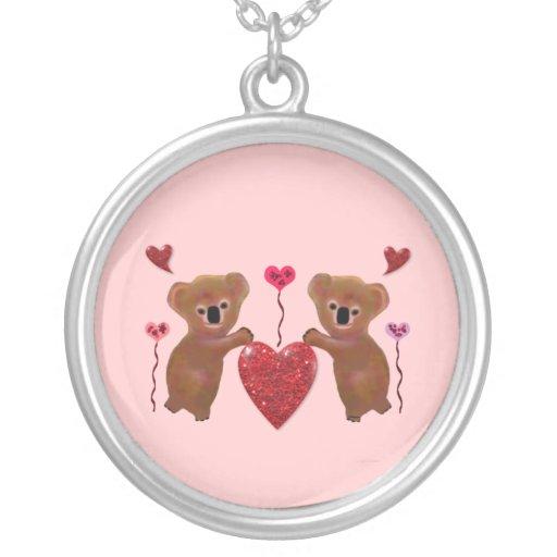Koala Valentine Hearts Necklace