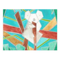 Koala Watercolor Art Postcard