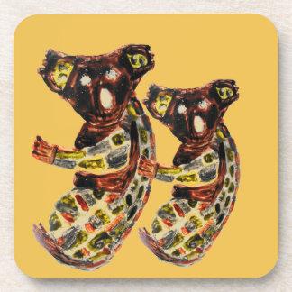 Koala Wild Animal Aboriginal Art Coaster