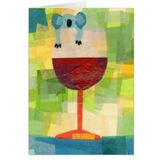 Koala Wine with message Greeting Card