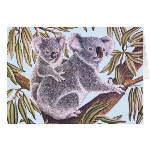 Koala with Baby Greeting Card