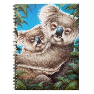 Koala y cuaderno del bebé