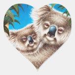 Koala y pegatina del bebé
