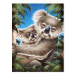 Koala y postal del bebé