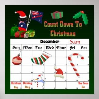Koalaclaws Countdown To Christmas print