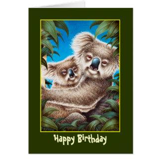 Koalas Birthday Card