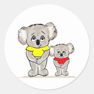 Koalas brillantes etiquetas