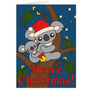 Koalas del navidad tarjeta de felicitación