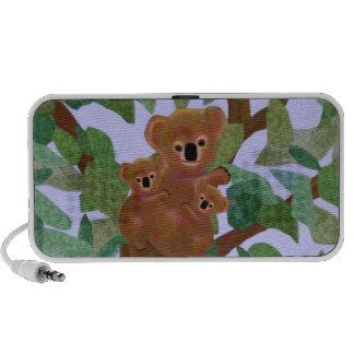 Koalas en el altavoz del personalizado del Doodle